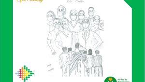 Crianças homenageiam profissionais de saúde de Jaraguá