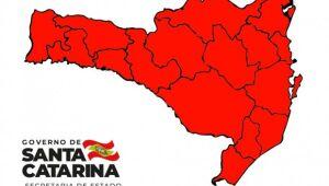 Santa Catarina segue em situação gravíssima para a covid-19