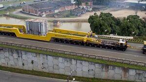 Escolta de transformador da Weg  causará lentidão na BR 470 neste sábado