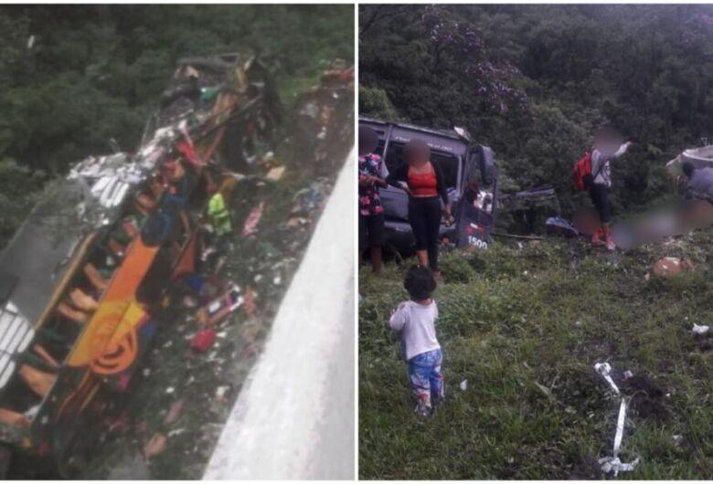 Acidente com ônibus de turismo deixa feridos na BR-376, em Guaratuba