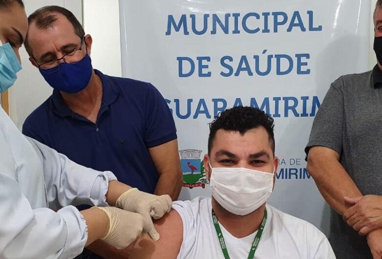 Guaramirim inicia vacinação contra a covid