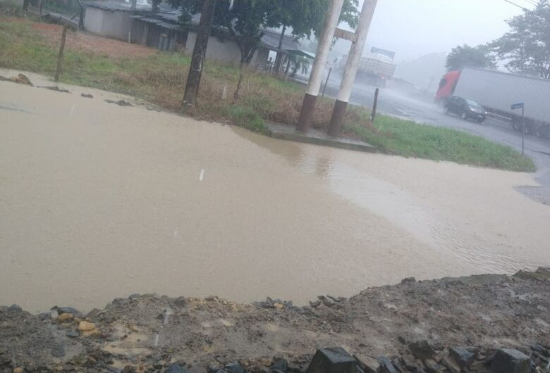 Região em alerta por conta das chuvas