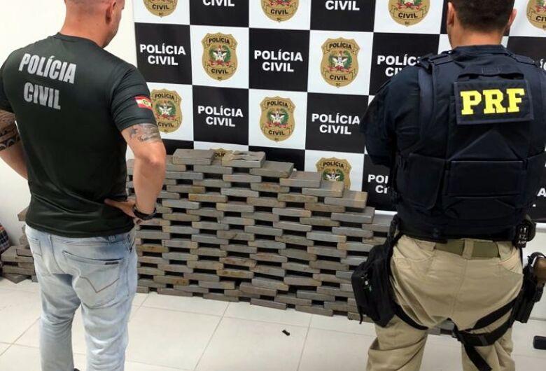 Ação conjunta PRF e Polícia Civil apreende 160 quilos de cocaína na BR 101 em Biguaçu