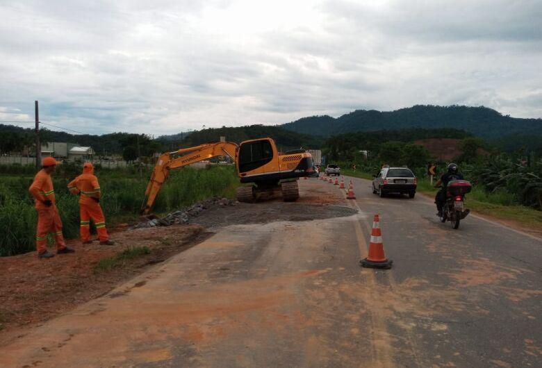 Finalizada obra de reparo na BR 280 em Nereu Ramos