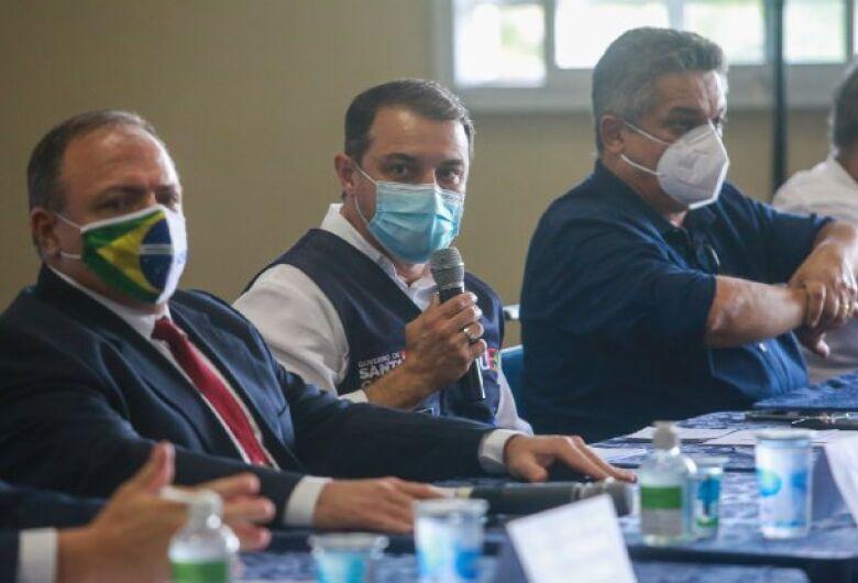 Em Chapecó, governador e ministro da Saúde reafirmam parceria para enfrentamento de momento crítico