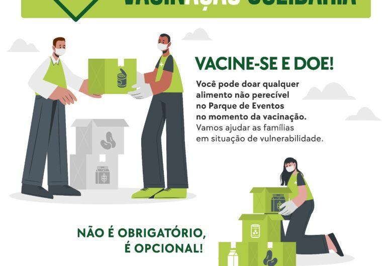 Quem vai se vacinar também pode ajudar com um quilo de alimento