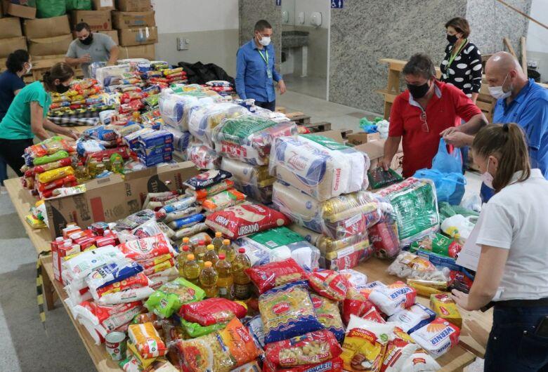 Entidades de Jaraguá recebem mais de 840 quilos alimentos através da campanha VacinAção Solidária