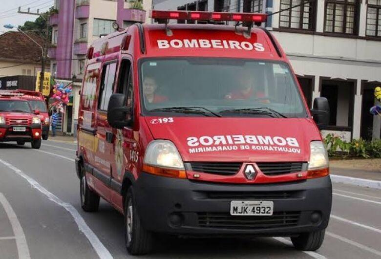 Três acidentes são registrados em menos de uma hora em rodovias em Guaramirim