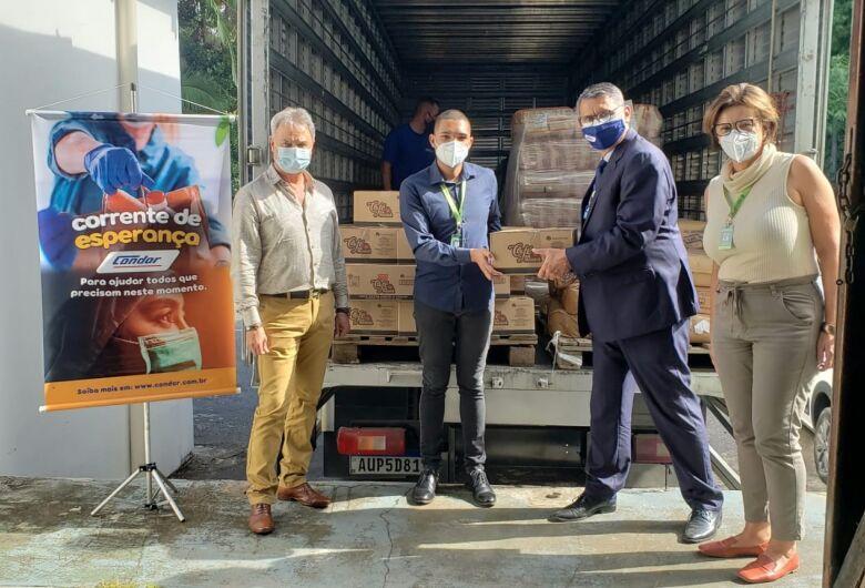 Jaraguá do Sul recebeu seis toneladas de alimentos do Condor