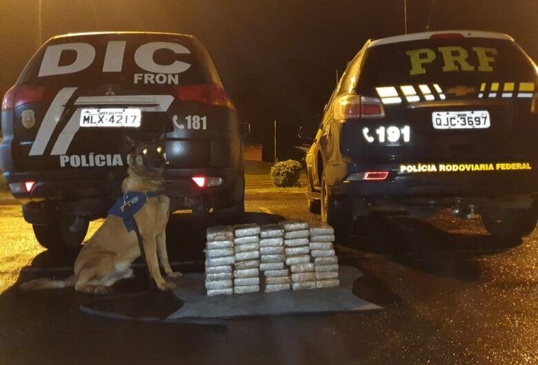 Ação conjunta PRF e Civil apreende mais de R$ 1,8 milhão em cocaína em Cunha Porã