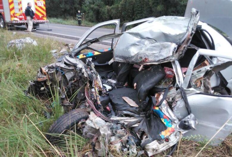Motorista morre em grave acidente na BR-470, em SC