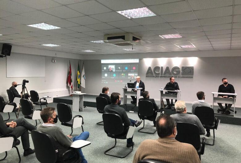 Caropreso apresenta investimentos para a região à classe empresarial de Guaramirim