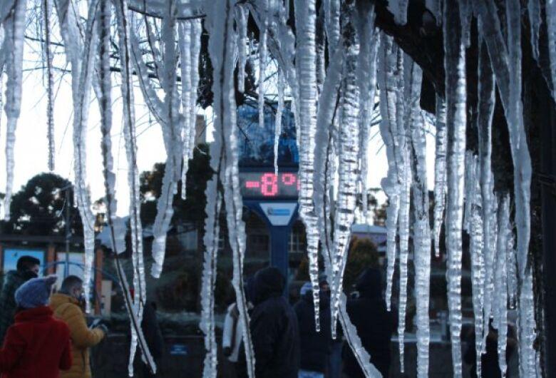 SC registra -8,9ºC e temperatura negativa em 69 cidades nesta sext
