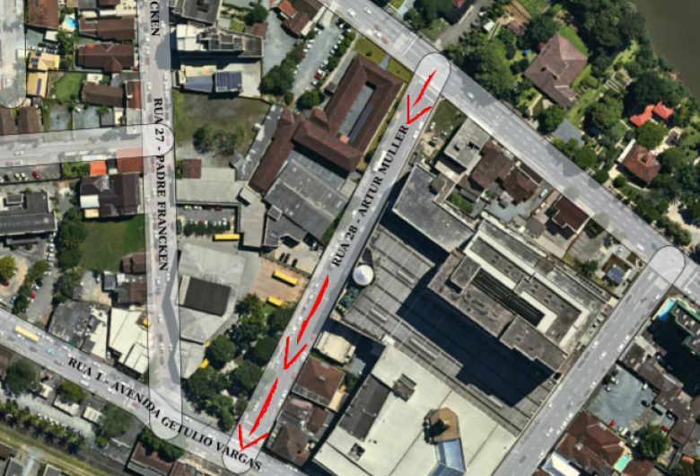 Rua Artur Müller terá sentido único a partir de segunda-feira