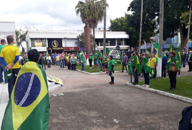Manifestação pelo voto auditável reúne cerca de 300 pessoas em Jaraguá