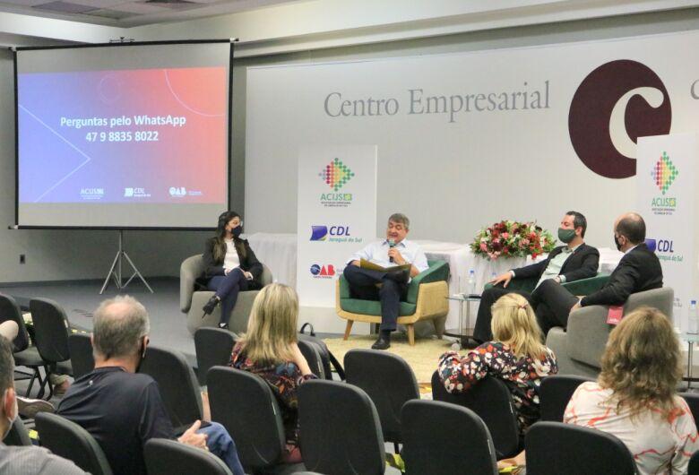 Lunelli participa de painel na Acijs sobre parceria público-privada