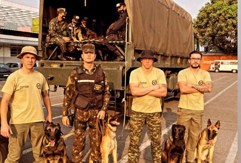 Jaraguaense instrui seminário de busca e salvamento para Polícia do Exército em MG