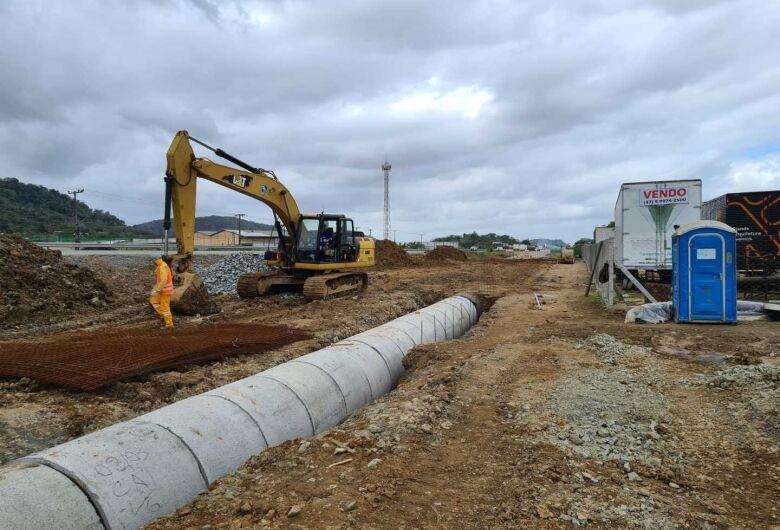 Começam as obras do elevado de acesso ao bairro Guamiranga, em Guaramirim