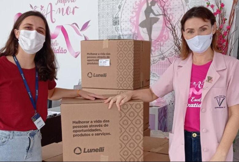 Lunelli faz doação para Rede Feminina de Combate ao Câncer de Guaramirim