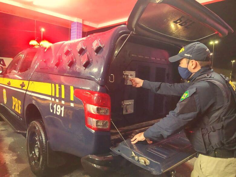 Foragido da Justiça por homicídio  é preso na BR 101 em Itapema - Crédito: Divulgação