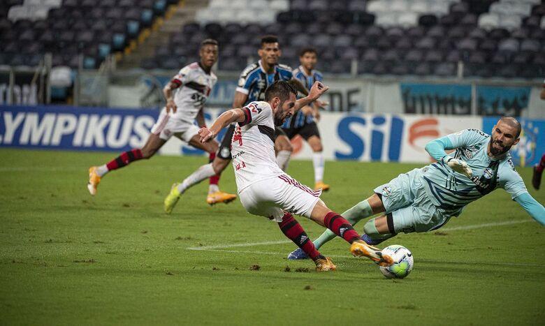Flamengo vira sobre o Grêmio no segundo tempo e vence na Arena - Crédito: Alexandre Vidal / Flamengo