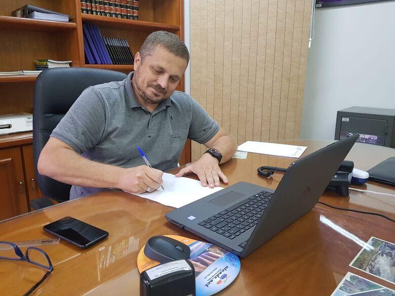 Vereador Marcelo Deretti, presidente do Legislativo de Guaramirim - Crédito: Divulgação