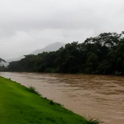 Rio Itapocu em Jaraguá do Sul  - Crédito: Divulgação