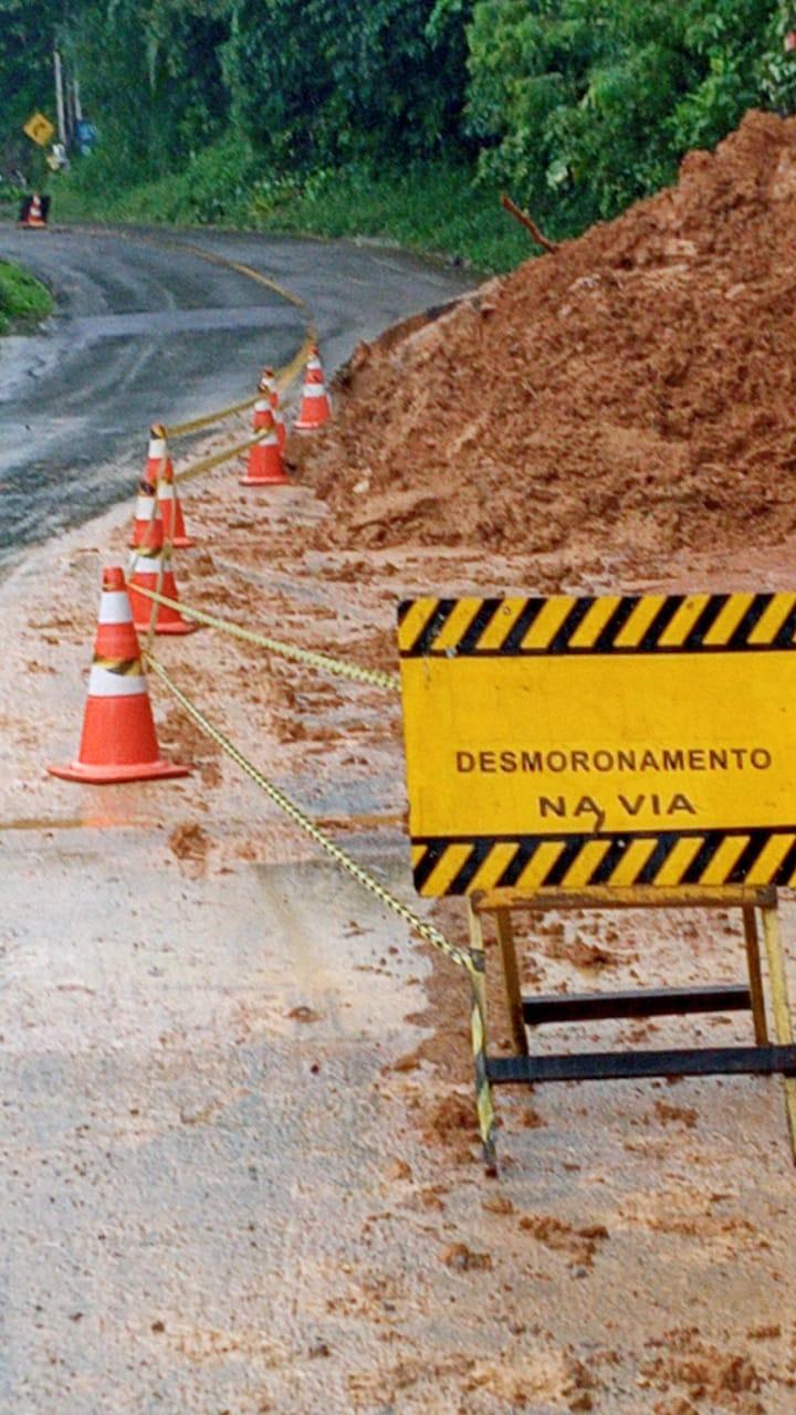 Defesa Civil mantém interdição parcial da subida do Molha - Crédito: Divulgação