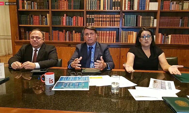 Bolsonaro diz que busca a conscientização contra a covid-19 - Crédito: Reprodução Facebook