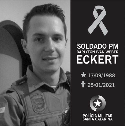 Soldado da PM de Schroeder morre aos 32 anos - Crédito: Divulgação