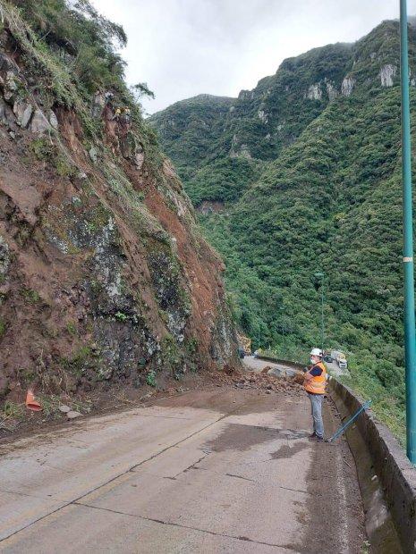 Serra do Rio do Rastro está temporariamente interditada para obras de contenção - Crédito: Divulgação
