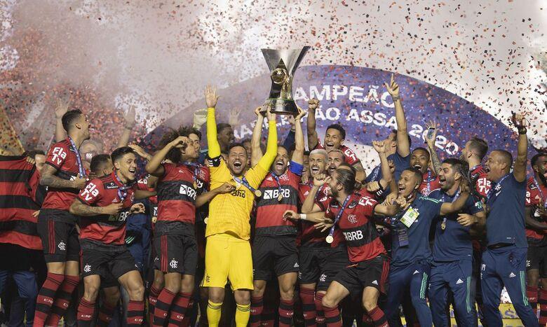 Flamengo é campeão brasileiro - Crédito: Lucas Figueiredo / CBF