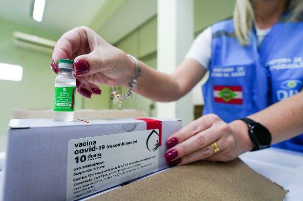 Corupá recebe mais 210 doses da vacina contra a covid-19 - Crédito: Arquivo / Divulgação Governo de SC