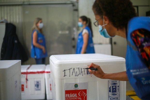 Novas doses das vacinas chegam nas centrais regionais. - Crédito: Foto: Julio Cavalheiro/Secom