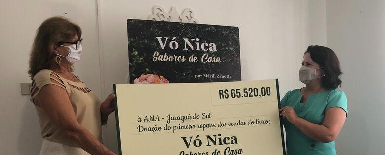 AMA recebe R$ 65,5 mil em vendas do livro Receitas da Vó Nica - Crédito: Isabelle Stringari Ribeiro