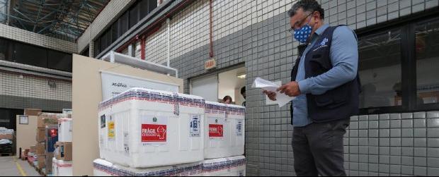 Santa Catarina recebe mais 59,5 mil doses da vacina Oxford-AstraZeneca - Crédito: Mauricio Vieira / Secom