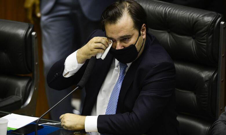 Emocionado, Rodrigo Maia se despede da presidência da Câmara - Crédito: Marcelo Camargo/Agência Brasil