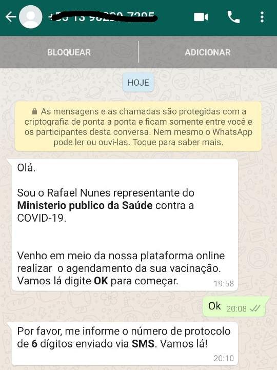 Criminosos usam vacina contra covid-19 para aplicar golpe - Crédito: Divulgação / PMJS