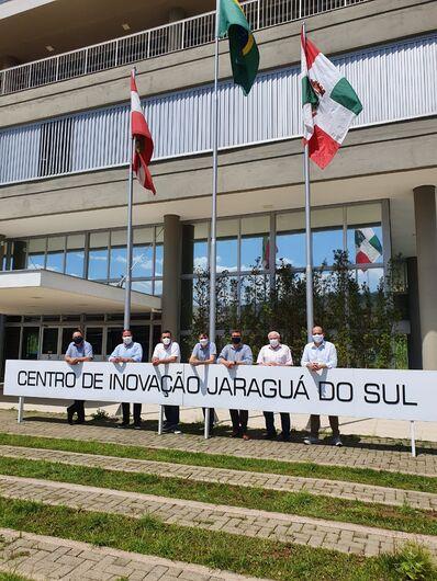 Presidente da Fapesc visita Jaraguá do Sul - Crédito: Divulgação / PMJS