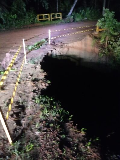 Chuva prejudicou estradas em todo o interior de Corupá, afirma Prefeitura  - Crédito: Divulgação Prefeitura de Corupá