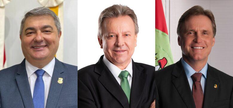 Lunelli, Maldaner e Berger vão disputar prévia do MDB ao governo do Estado  - Crédito: divulgação