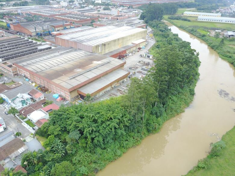 Weg vai ajudar a recuperar a mata ciliar do Rio Itapocu, em Jaraguá - Crédito: Divulgação