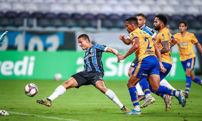 Grêmio goleia Pelotas e segue no G4 do Campeonato Gaúcho - Crédito: Lucas Uebel/Grêmio FBPA