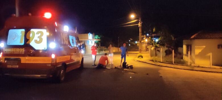Motociclista sofre fraturas em acidente no Jaraguá Esquerdo - Crédito: Sérgio Luiz