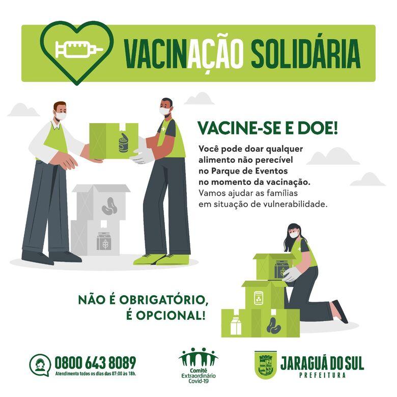 Quem vai se vacinar também pode ajudar com um quilo de alimento - Crédito: Divulgação