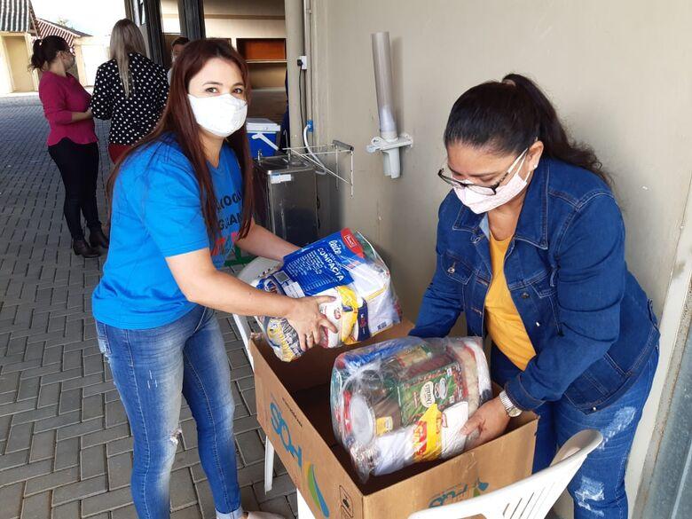 Primeiro dia da campanha Guaramirim Solidária arrecada mais de 120 quilos de alimentos  - Crédito: Arquivo / Divulgação