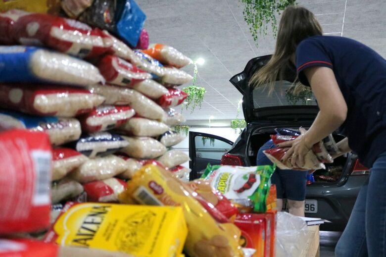 Entidades recebem doações da campanha VacinAção Solidária em Jaraguá  - Crédito: Divulgação