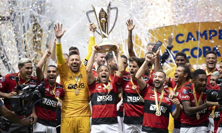 Flamengo bate Palmeiras nos pênaltis e leva Supercopa do Brasil - Crédito: Lucas Figueiredo / CBF