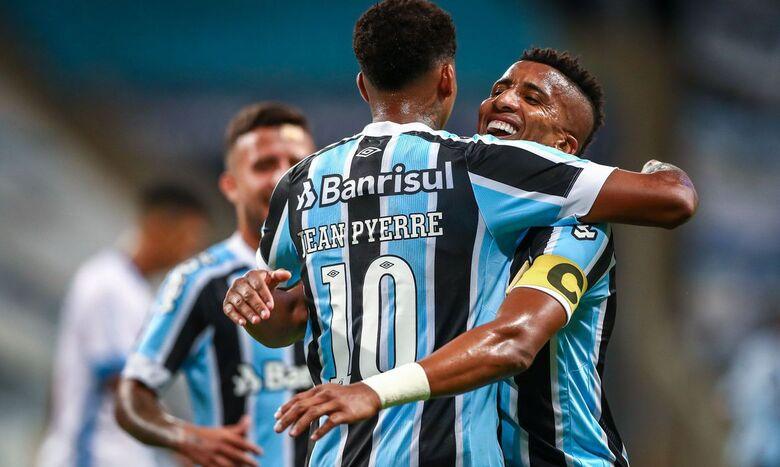 Grêmio ganha o primeiro jogo sem Renato e reassume ponta do Gaúcho - Crédito: Lucas Uebel/Grêmio FBPA