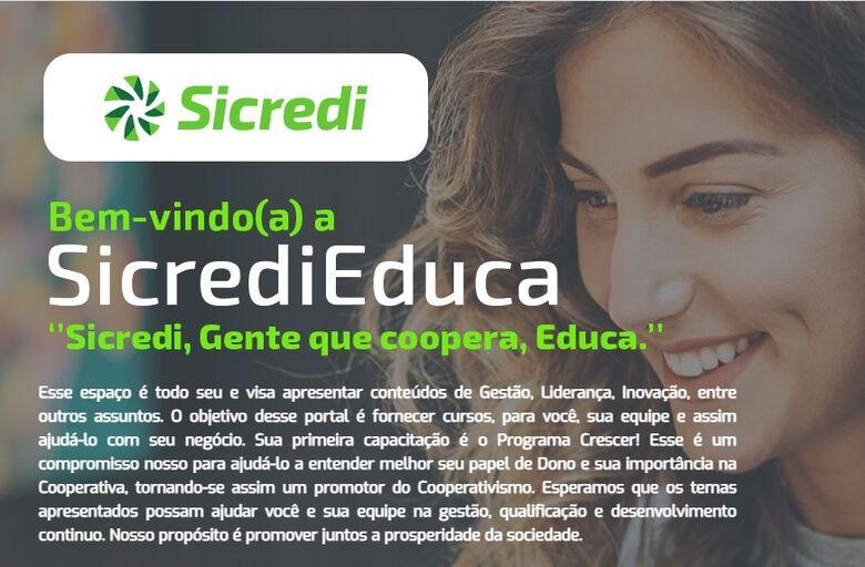 Sicredi lança plataforma digital com cursos gratuitos para associados - Crédito: Divulgação